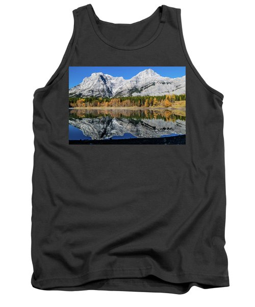 Rockies From Wedge Pond Under Late Fall Colours, Spray Valley Pr Tank Top