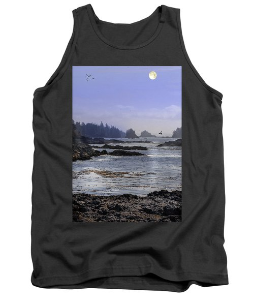 Rocks And Moon And Water Tank Top