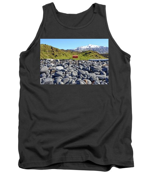 Tank Top featuring the photograph Rocky Beach Iceland by Edward Fielding