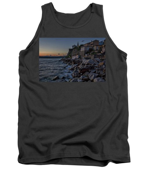Tank Top featuring the photograph Rocky Coast At Dawn - Piran - Slovenia by Stuart Litoff