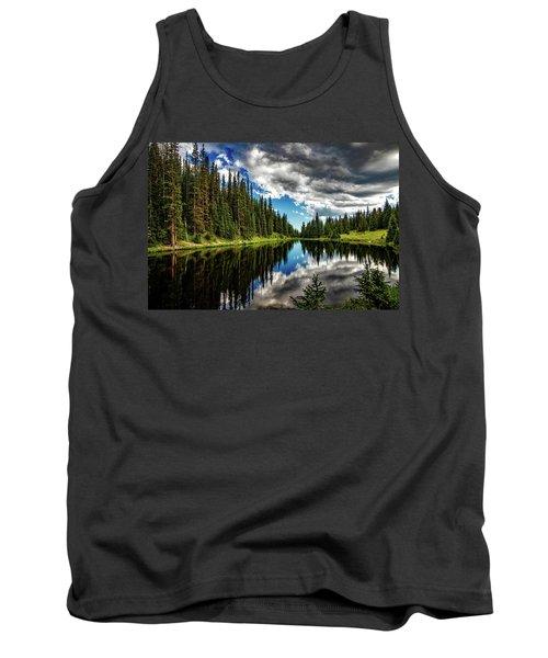 Rocky Mountain Lake Irene Tank Top
