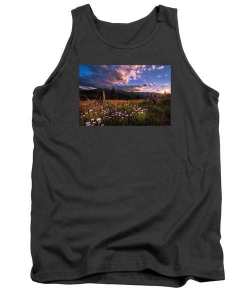 Rocky Mountain Summer Sunset Tank Top