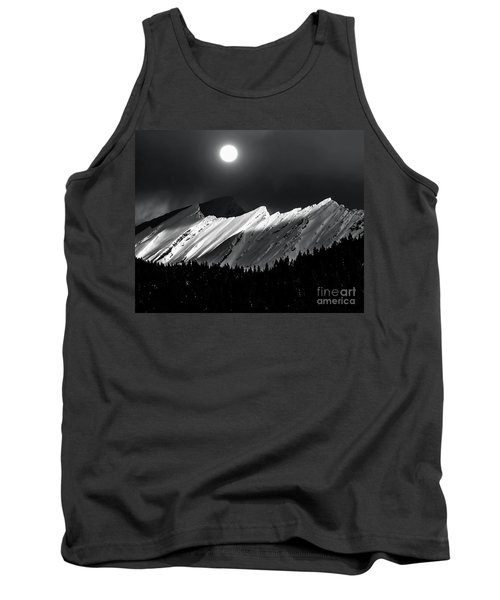 Rocky Mountains In Moonlight Tank Top by Elaine Hunter