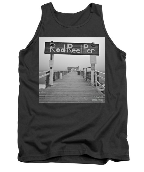 Rod And Reel Pier In Fog In Infrared 53 Tank Top