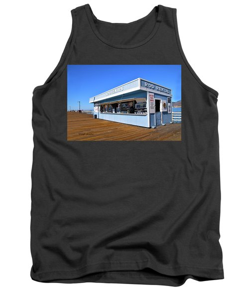 Tank Top featuring the photograph Rod Rental At The Pismo Beach Pier by Floyd Snyder