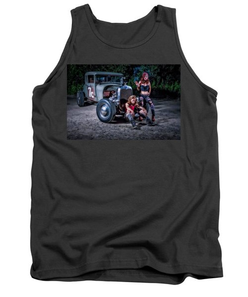 Rodders #2 Tank Top by Jerry Golab
