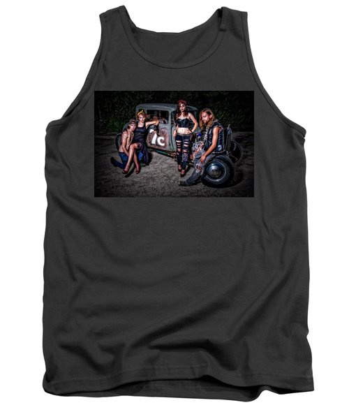 Rodders #4 Tank Top by Jerry Golab