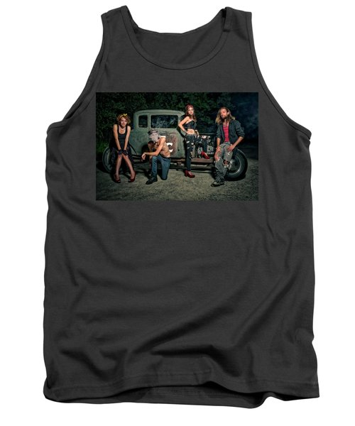 Rodders #5 Tank Top by Jerry Golab