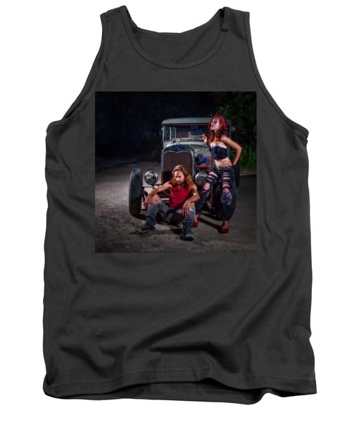 Rodders Tank Top by Jerry Golab