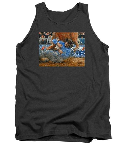 Rodeo Houston --steer Wrestling Tank Top by Doug Kreuger