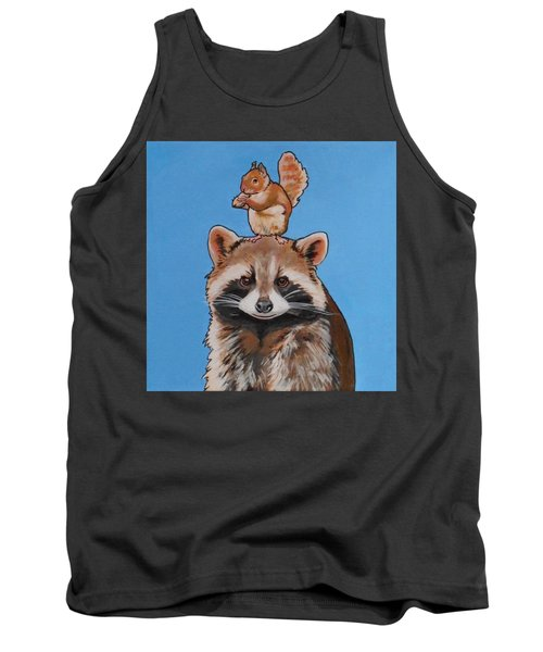 Rodney The Raccoon Tank Top