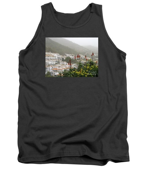 Tank Top featuring the photograph Rojo In The Pueblos Blancos by Suzanne Oesterling