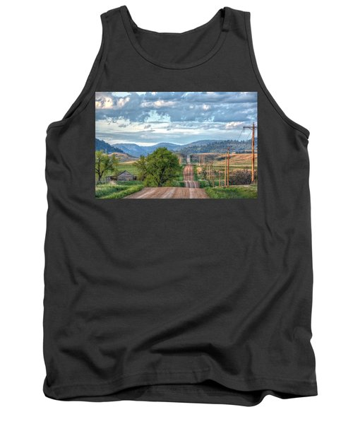 Rollercoaster Country Road Tank Top by Fiskr Larsen