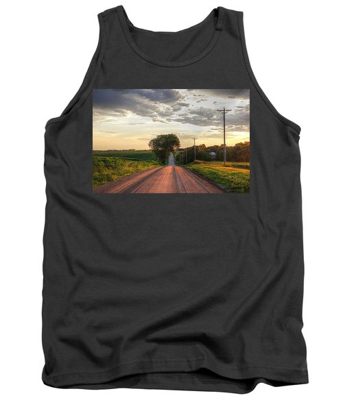 Rolling Down A Country Road Tank Top by Karen McKenzie McAdoo