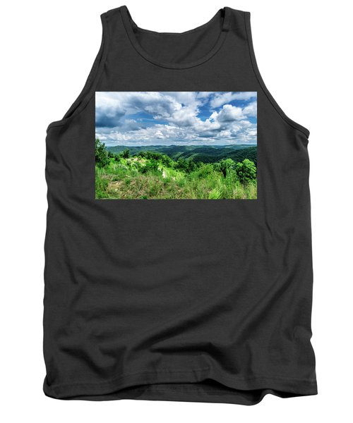 Rolling Hills And Puffy Clouds Tank Top