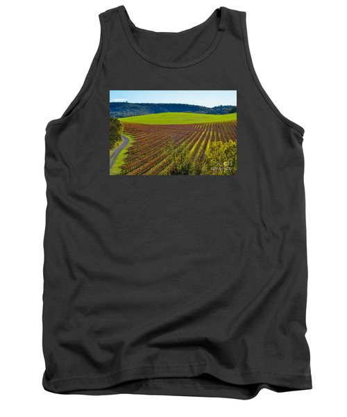 Rolling Hills And Vineyards Tank Top by CML Brown