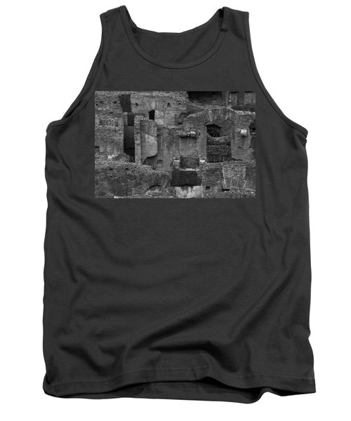 Tank Top featuring the photograph Roman Colosseum Bw by Silvia Bruno