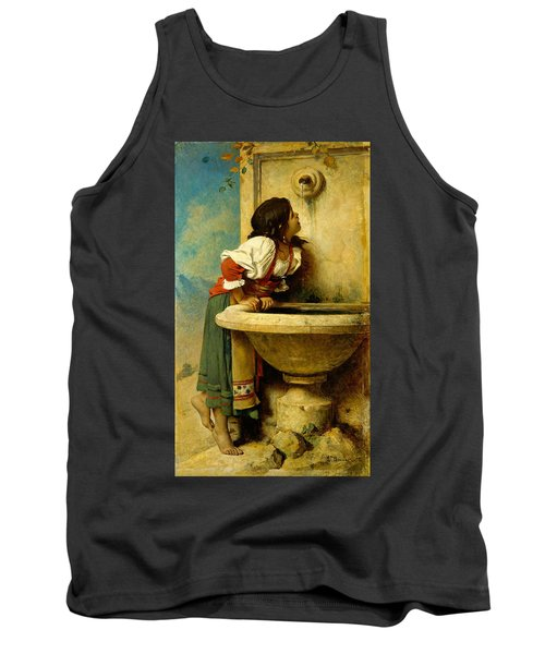 Roman Girl At A Fountain Tank Top