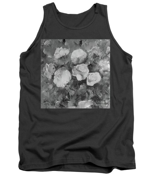 Tank Top featuring the painting Romantic Large Roses  by Robin Maria Pedrero