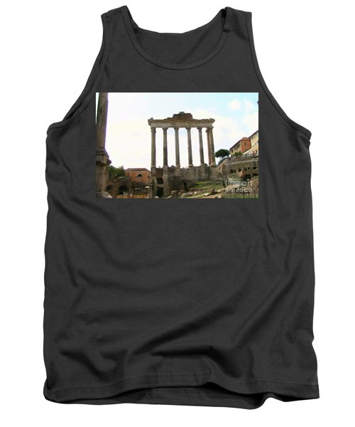 Tank Top featuring the mixed media Rome The Eternal City by Rosario Piazza
