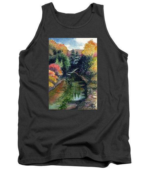 Tank Top featuring the painting Ronceverte, Wv by Katherine Miller