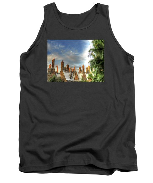 Tank Top featuring the photograph rooftops Hogsmeade by Tom Prendergast