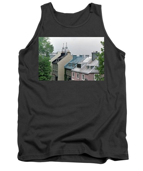 Tank Top featuring the photograph Rooftops by John Schneider