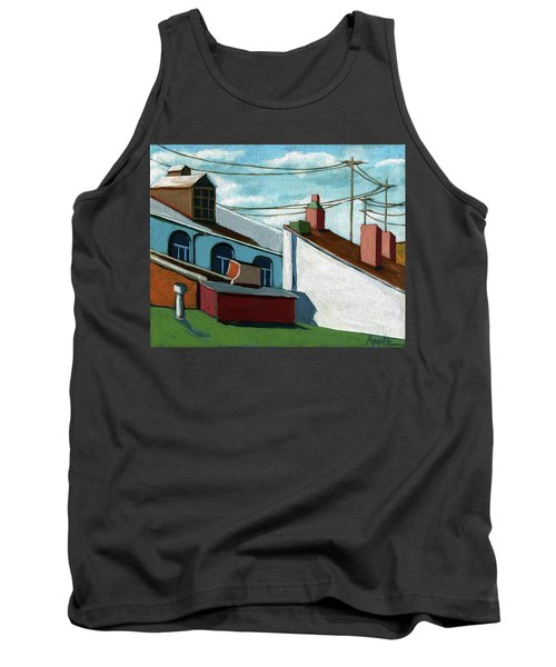 Tank Top featuring the painting Rooftops by Linda Apple