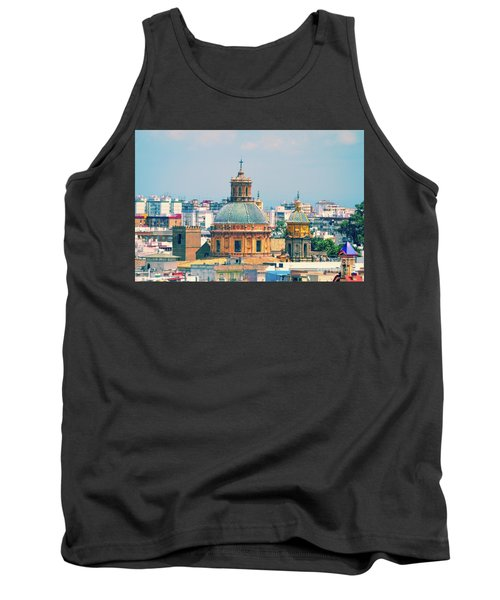 Tank Top featuring the photograph Rooftops Of Seville - 1 by Mary Machare