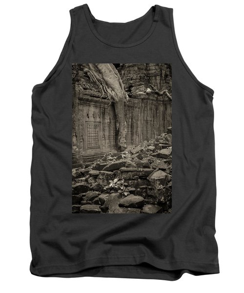 Tank Top featuring the photograph Roots In Ruins 6, Ta Prohm, 2014 by Hitendra SINKAR
