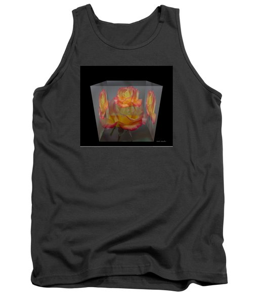 Tank Top featuring the photograph Rose Block by Debra     Vatalaro