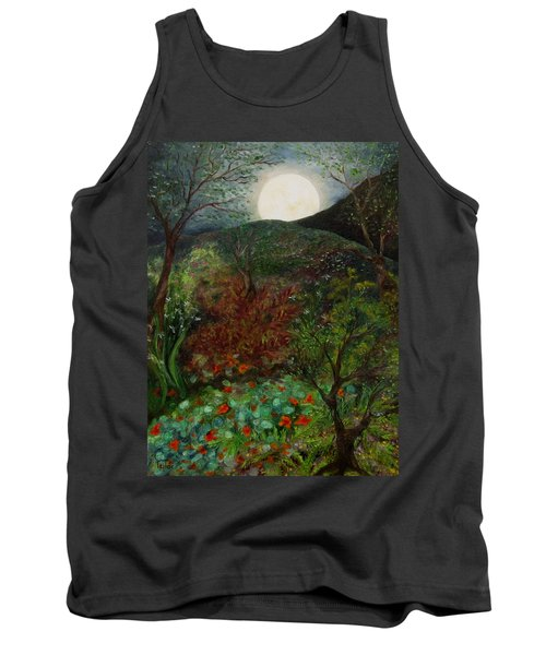 Rose Moon Tank Top by FT McKinstry