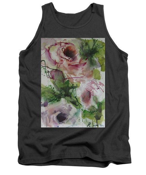 Tank Top featuring the painting Rosebuds by Robert Joyner