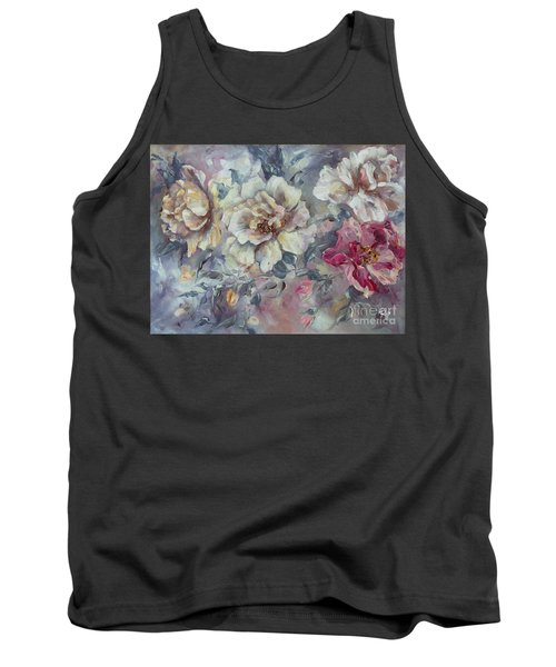 Tank Top featuring the painting Roses From A Friend by Ryn Shell