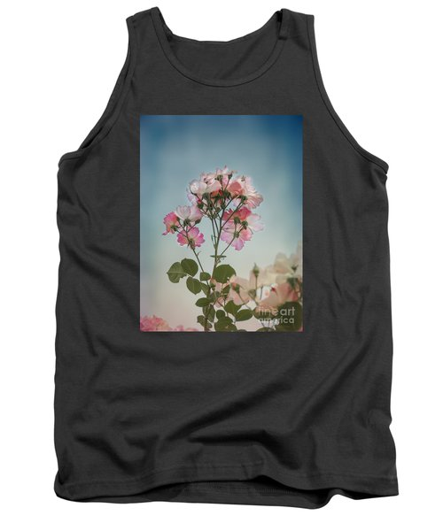 Roses In The Sky Tank Top by Elaine Teague