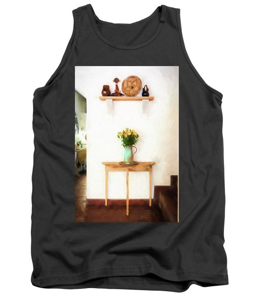 Rose's On Table Tank Top