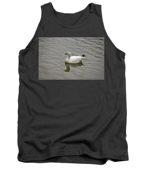 Tank Top featuring the photograph Ross's Goose by Sandy Keeton