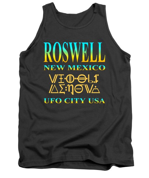 Roswell New Mexico - Ufo City Usa Tshirt Design Tank Top by Art America Gallery Peter Potter