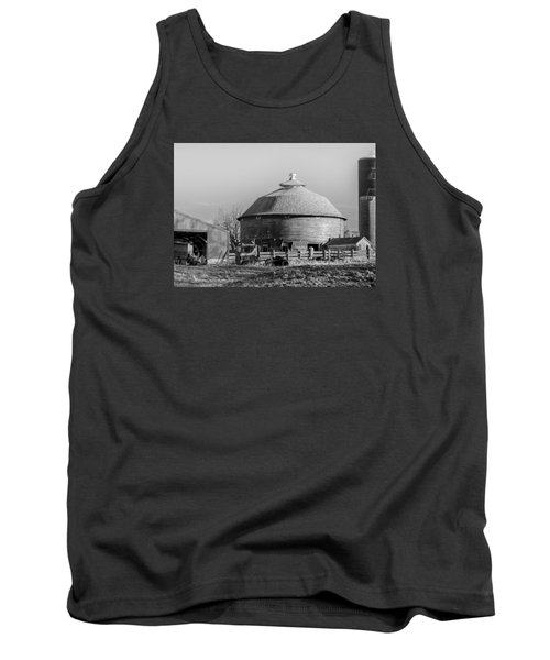 Tank Top featuring the photograph Round Barn by Dan Traun