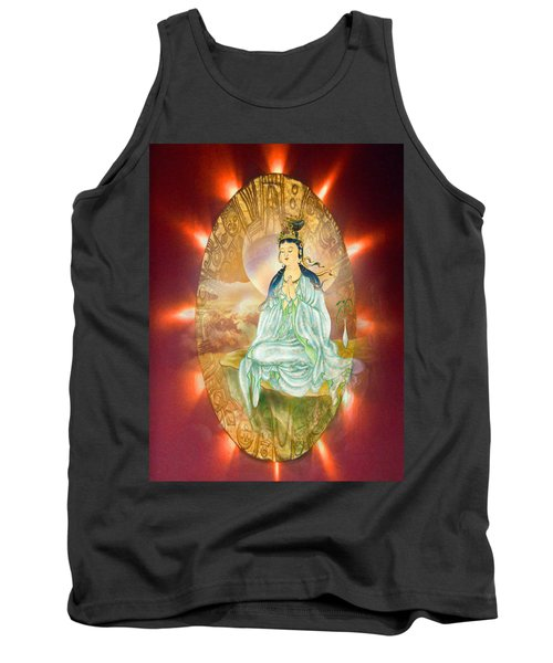 Tank Top featuring the photograph Round Halo Kuan Yin by Lanjee Chee