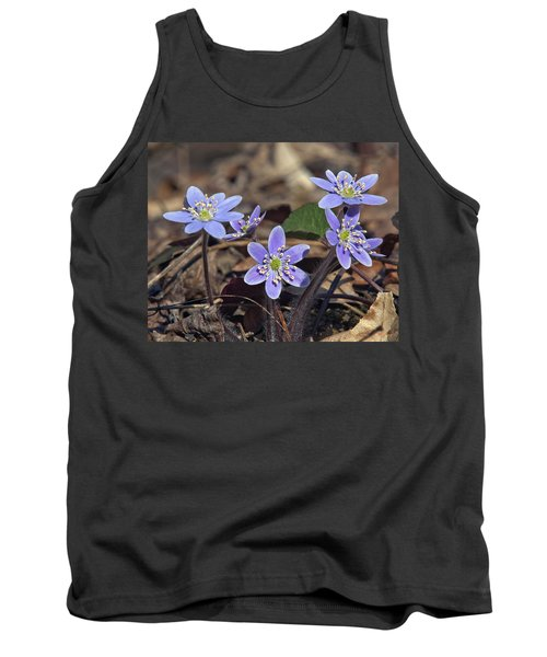 Round-lobed Hepatica Dspf116 Tank Top