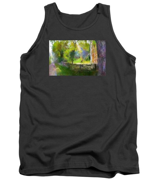 Tank Top featuring the painting Around The Cathedral by Wayne Pascall