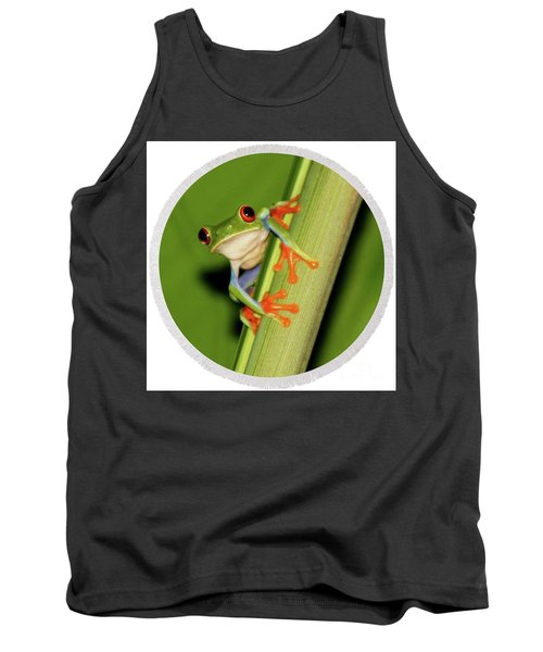 Round Towel Frog Tank Top by Myrna Bradshaw