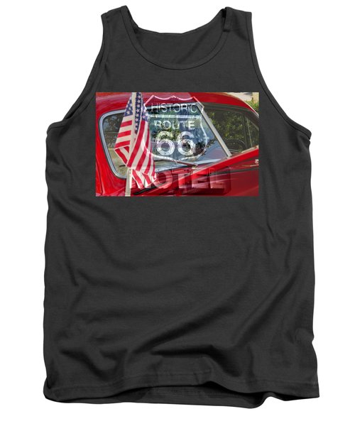 Tank Top featuring the photograph Route 66 The American Highway by David Lee Thompson