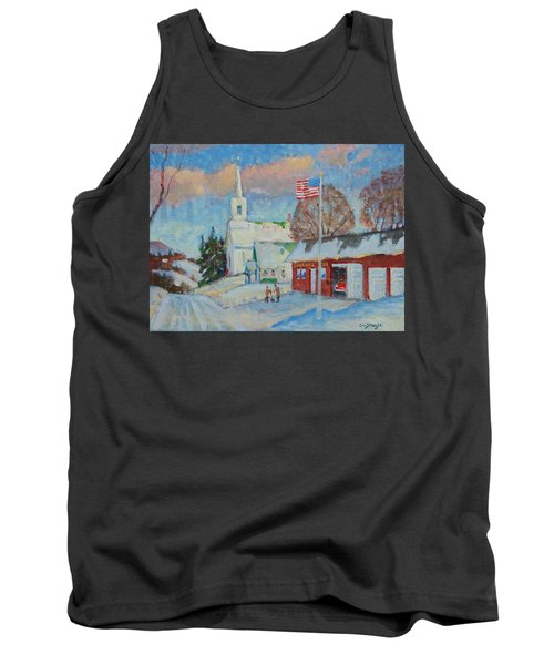Route 8 North Tank Top by Len Stomski
