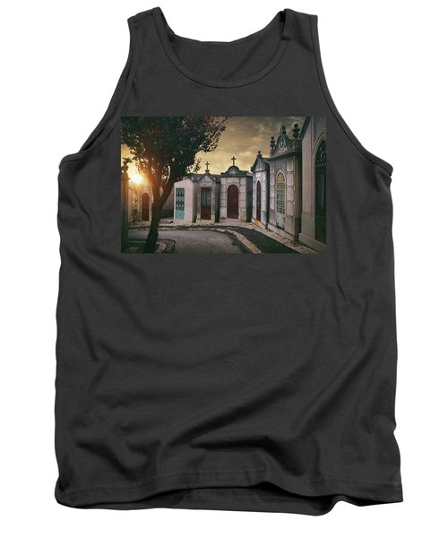 Tank Top featuring the photograph Row Of Crypts by Carlos Caetano