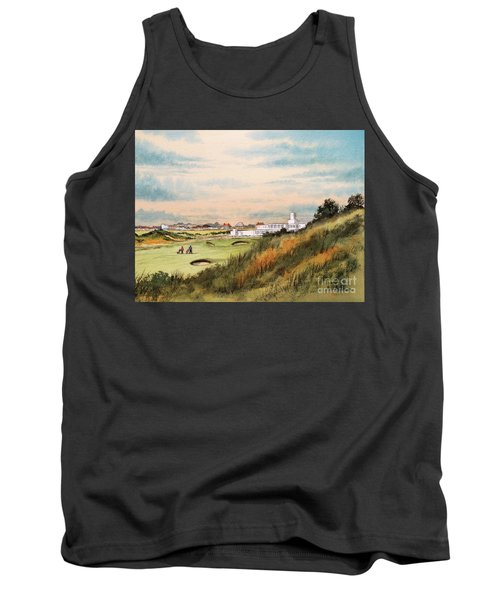 Tank Top featuring the painting Royal Birkdale Golf Course 18th Hole by Bill Holkham