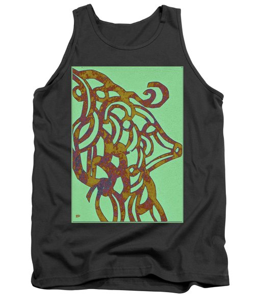 Royal Sheep Cut Out Tank Top by Patricia Cleasby