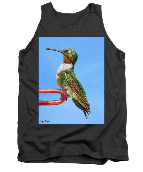 Ruby Throat Hummingbird  Tank Top by Phyllis Beiser