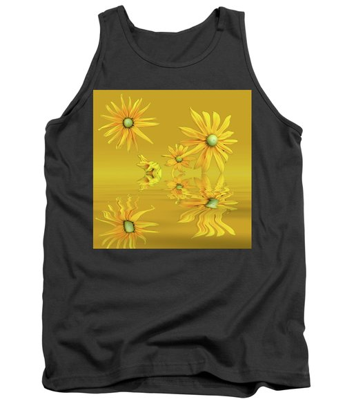 Tank Top featuring the photograph Rudbekia Yellow Flowers by David French